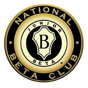 circle shaped black and gold National Junior Beta symbol