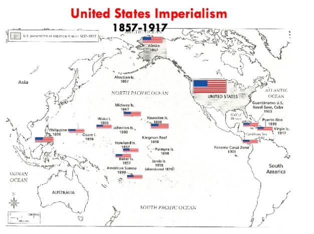 Us Imperialism Map – American Imperialism Worksheet